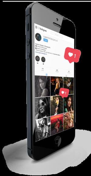 Transparent-phone-instagram-marketing-levl-up